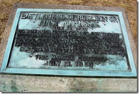 First Bull Run or Manassas Stone Marker erected in 1928