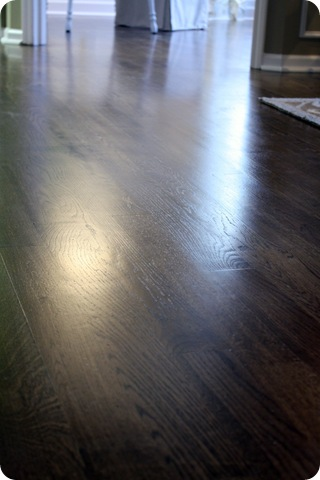 satin finish on floors