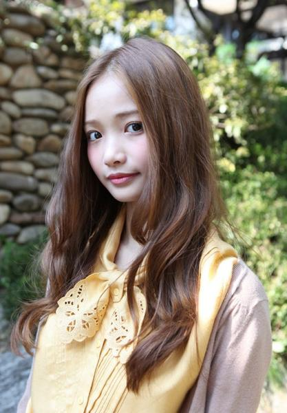 Asian long wavy hairstyle