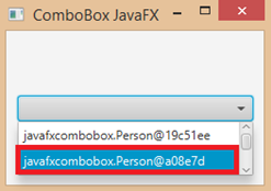 ComboBox toString()