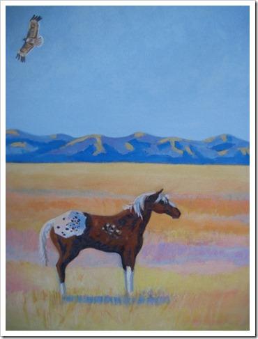 appaloosa horse painting