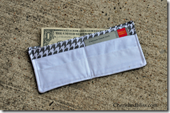 Boys Fabric Wallet Money Houndstooth