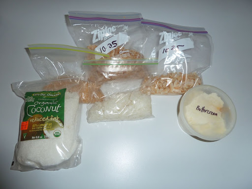 Mark Joseph gave us some extra coconut shavings in the various sizes and degrees of toastedness.