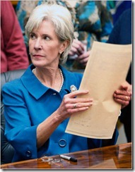 Sebelius frown