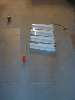 Rough layout of the DIY food shelf rack