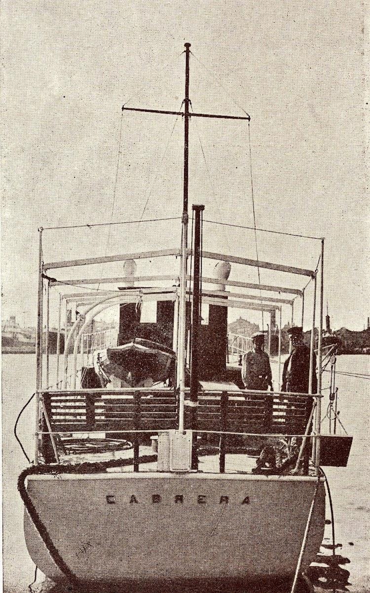 Vista de popa de la lancha CABRERA. Del libro Unión Naval de Levante. 1.924-1.949.jpg