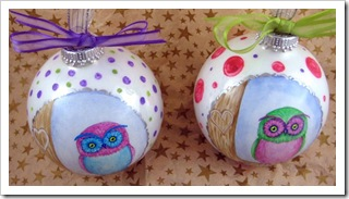 Pretty Little Owl Ornaments - top