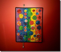 Columns and Circles Quilted Wall Art from KimsCraftyApple