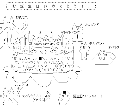 2chキャラクターによるお誕生日おめでとう!!