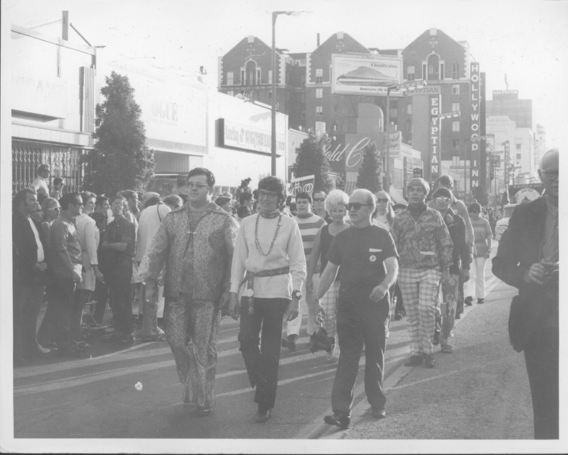 The first Christopher Street West (CSW) pride parade in Los Angeles. 1970.
