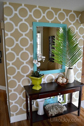 Stenciled Accent Wall - Lilikoi Joy