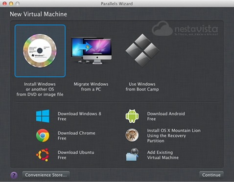 Parallels Wizard