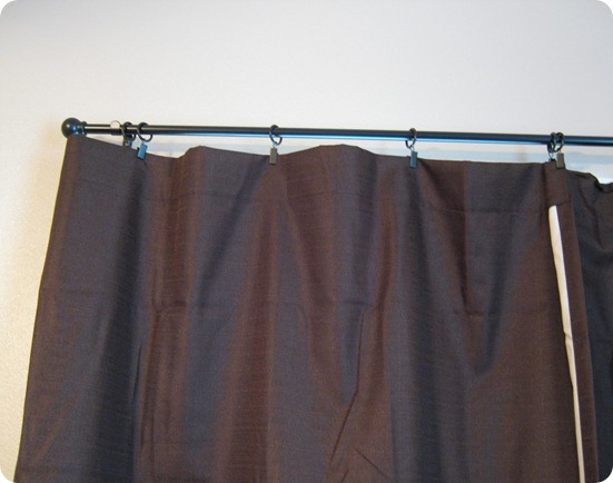 Clip on blackout curtains
