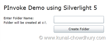 Silverlight 5 RC - PInvoke Demo - Step 1