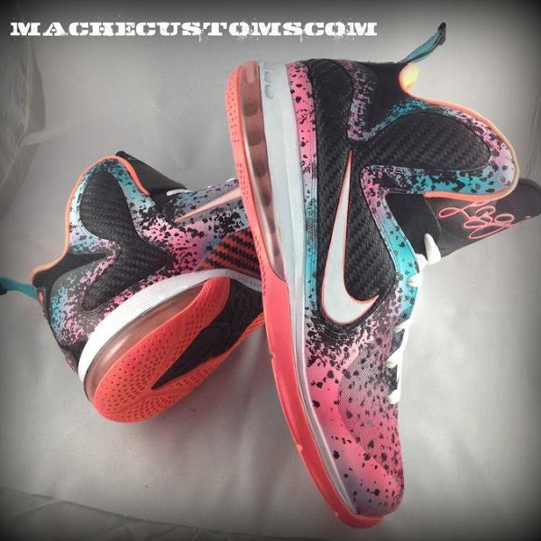 Nike LeBron 9 Flamingo aka 8220Miami Nights8221 Custom by Mache