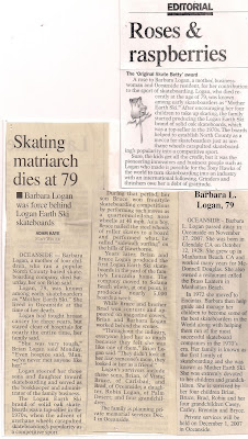 Remembering the passing of our Mother Barbara Logan aka Mother Earth Ski!
