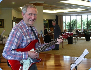 Brian Gunson sound checking before the day's programme began. Photo courtesy of Dennis Lyons.