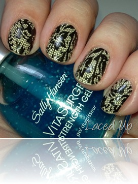 Sally Hansen Salon Effects in Laced Up 3