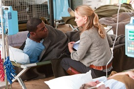 Mekhi Pfifer is Rex Matheson and Alexa Havins is Esther Drummond