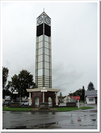 Gore's town clock which is over 100 years old despite it's outward appearance.