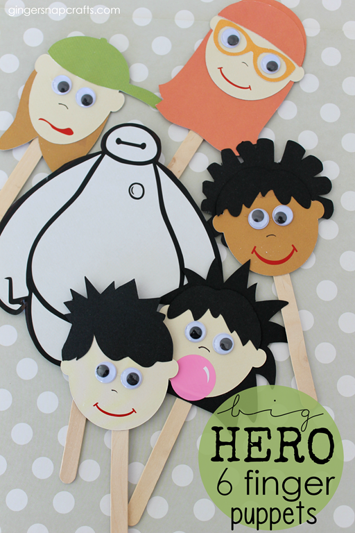 Big Hero 6 Finger Puppets #BigHero6Release #CollectiveBias #kidcraft #ad_thumb