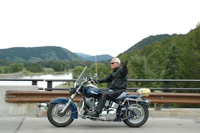 Harleyに乗ったおっちゃん