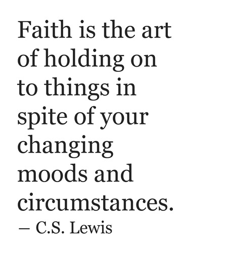 faith  c.s. lewis