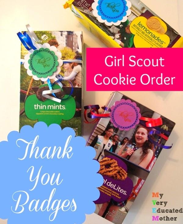 GSCookieThankYouBadges  #GirlScoutCookies #stampingprojects