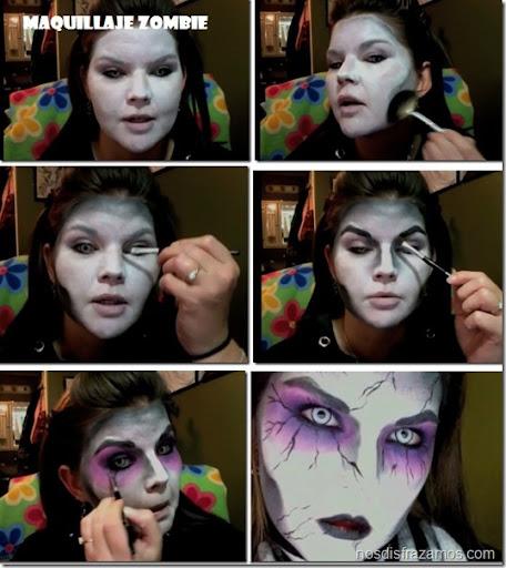 para halloween de zombie o vampiro. maquillaje de zombie3