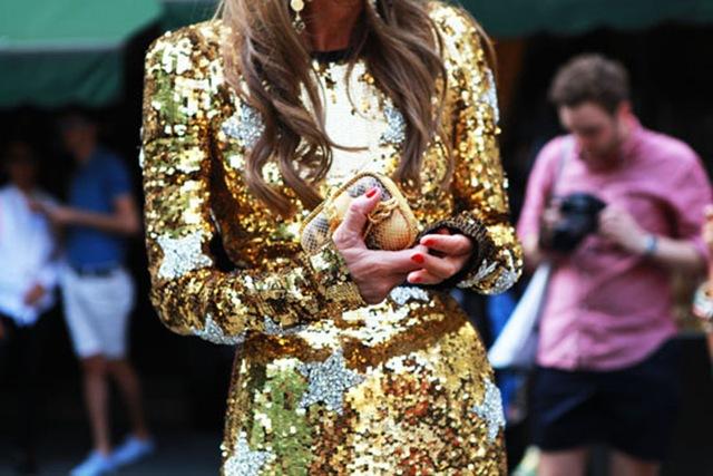 street style glitter anna dress