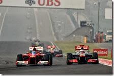 Alonso supera Button nel gran premio dell'India 2012