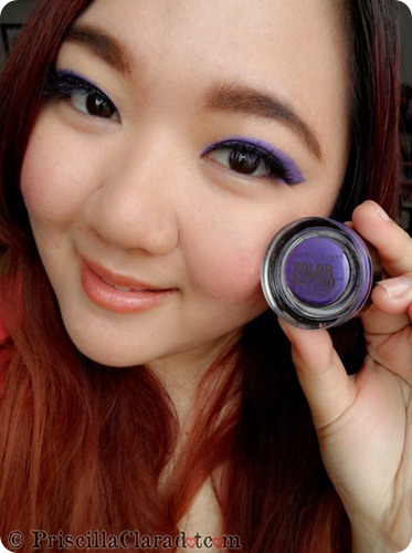Priscilla Clara beauty blogger IBB MUC Maybelline Color Tattoo Painted Purple eye makeup FOTD 1