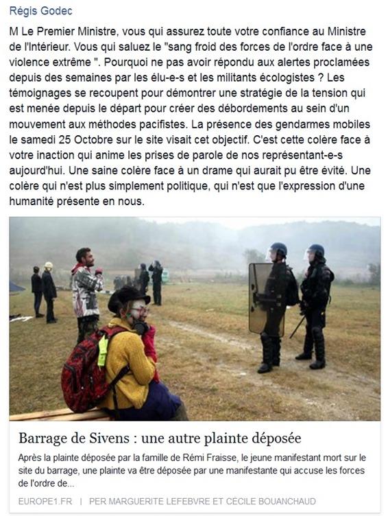 reaccions dels elegits occitans e ecologistas de Tolosa