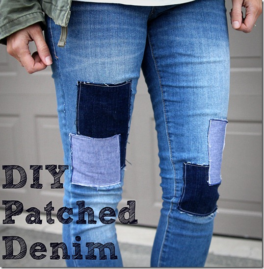 Patched Denim Tutorial - ONE little MOMMA