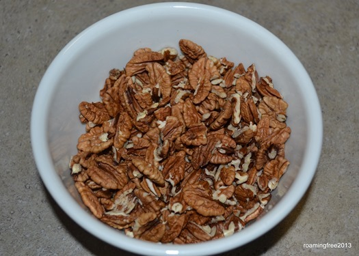 Freshly picked pecans