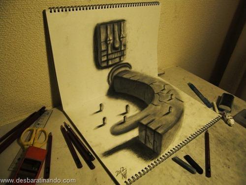 desenhos lapis 3D desbaratinando  (5)