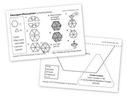 Feed Dog: Free pattern: Hexagon pincushion