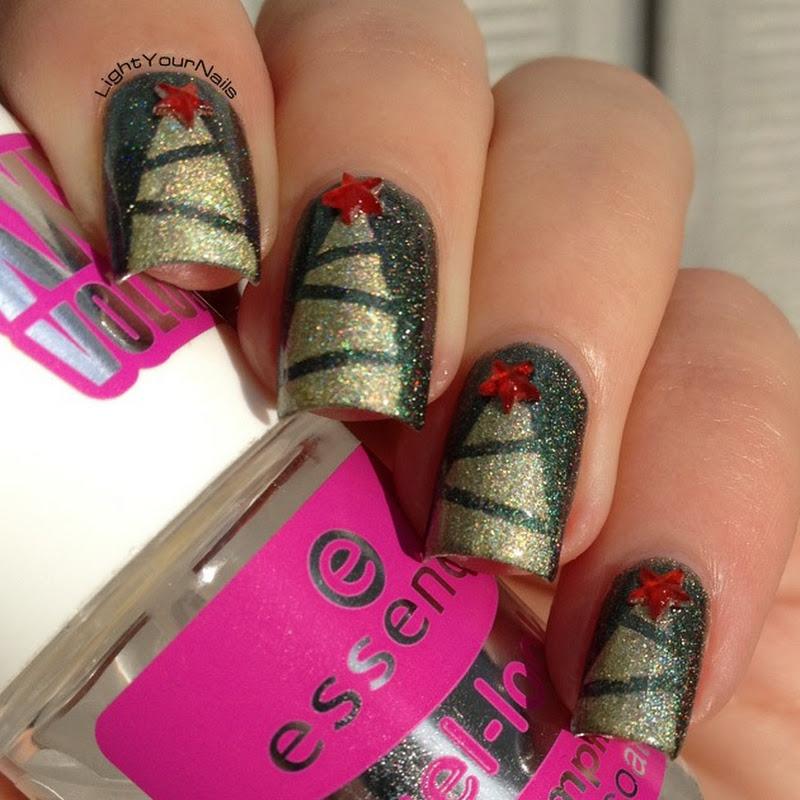 Winter Nail Art Challenge: Christmas Trees