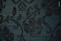 Tkanina meblowa, wzór roślinny, kwiatowy. Czarna.