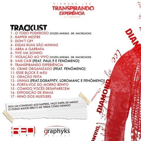 Diamond Lee - Mixtape 'Transpirando Experiência' [Capa-Back]