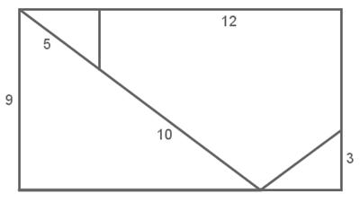 rettangolo suddiviso in triangoli e pentagono