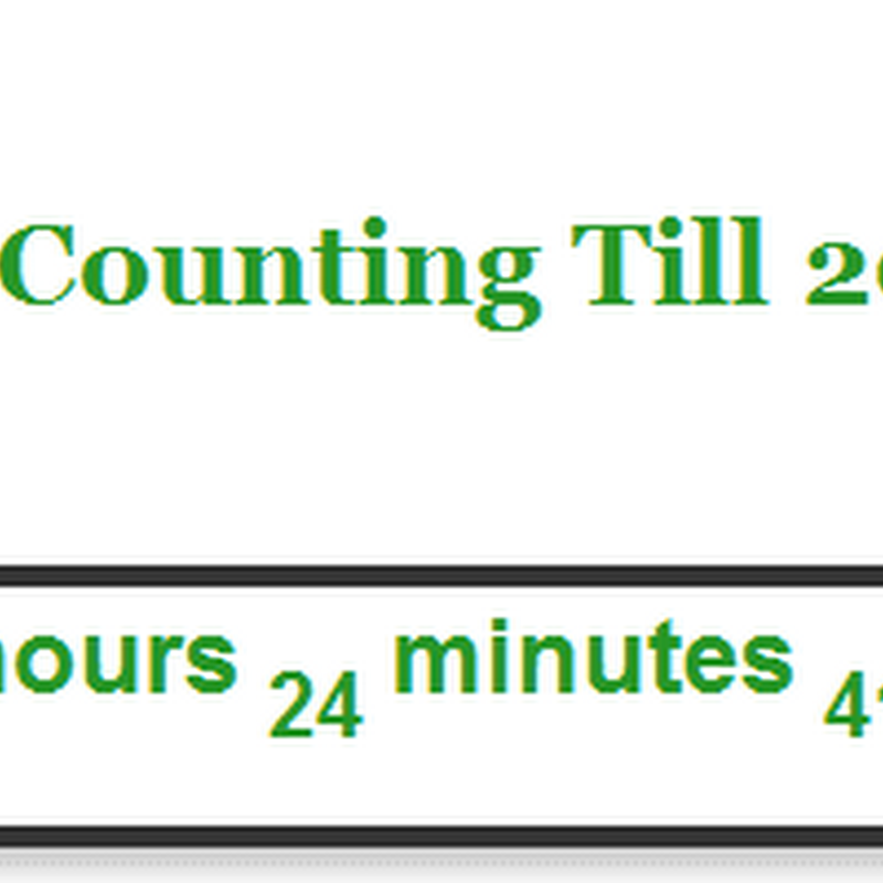 New Year CountDown Widget For Blogs
