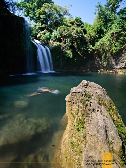 Swimming at Pangasinan's Bolinao Falls