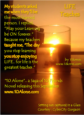 10 Alone by Vikrmn LIFE Teaches on Teacher's Day (CA Vikram Verma)