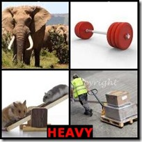 HEAVY- 4 Pics 1 Word Answers 3 Letters
