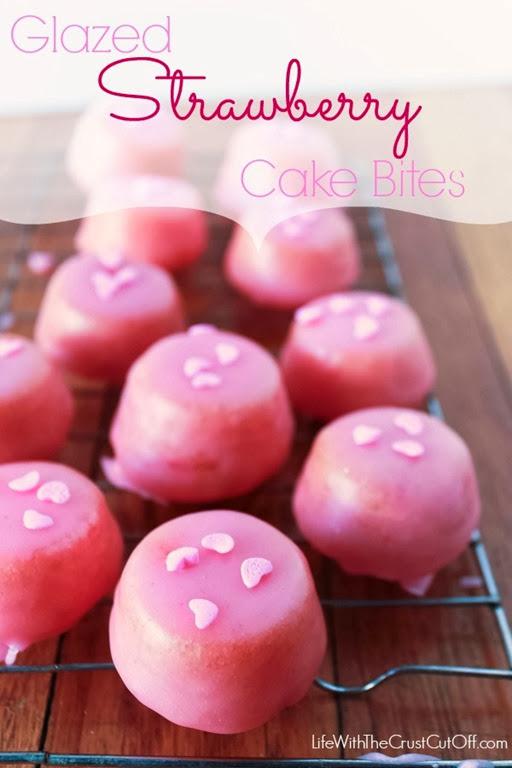 Glazed-Strawberry-Cake-Bites