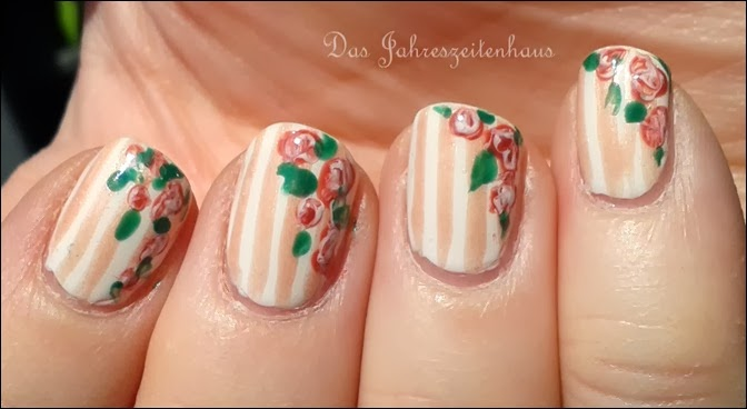 In Bloom Nail Art Roses Vintage Spring Design 8