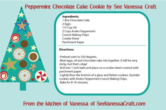 Peppermint Chocolate Cake Cookies by See Vanessa Craft