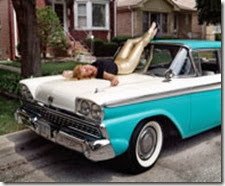 Miss Jolie on Her '59 Fairlane , Chicago, IL 2003