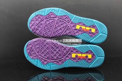 Nike LeBron 10 Low Akron Aeros Metallic Silver Teal